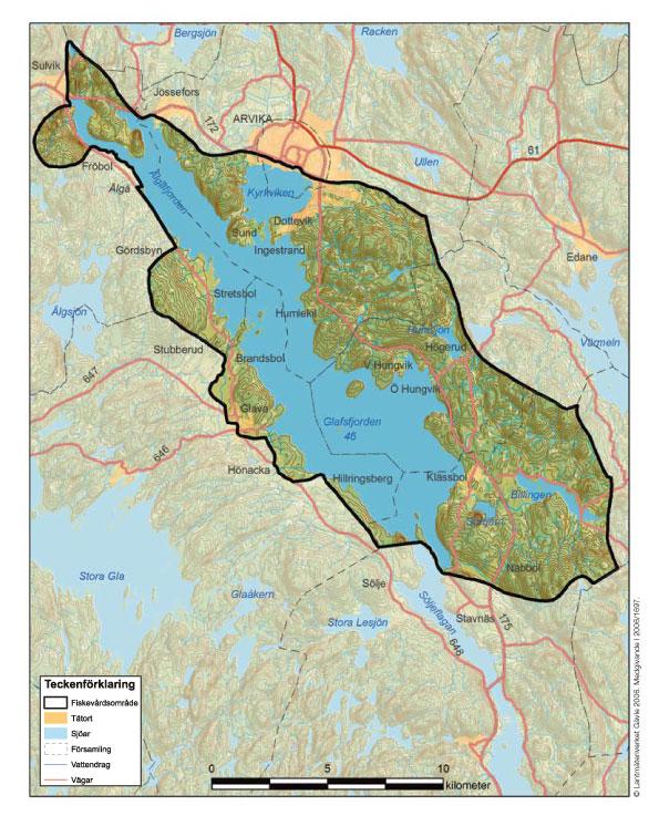 Karta Glafsfjordens fvof